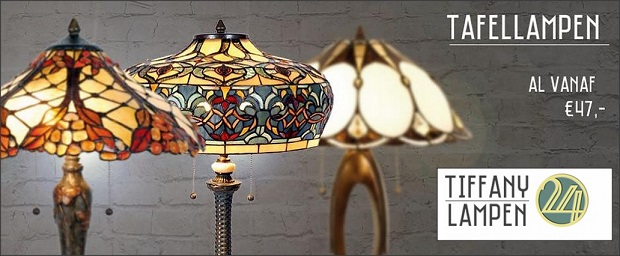 korting op Tiffany lampen